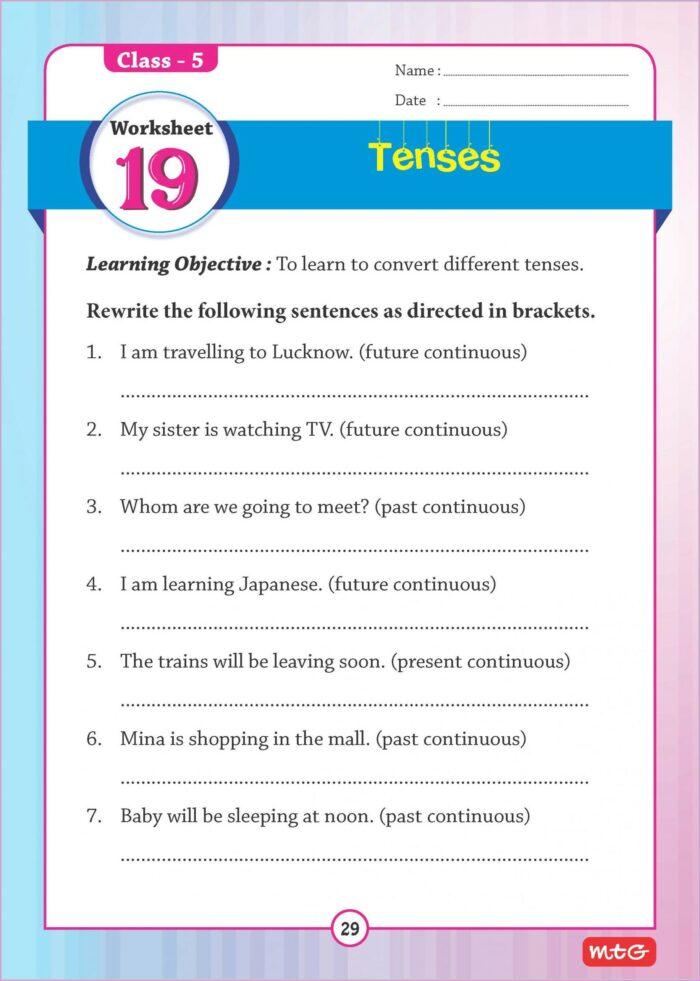 English Grammar Worksheet For Grade 1