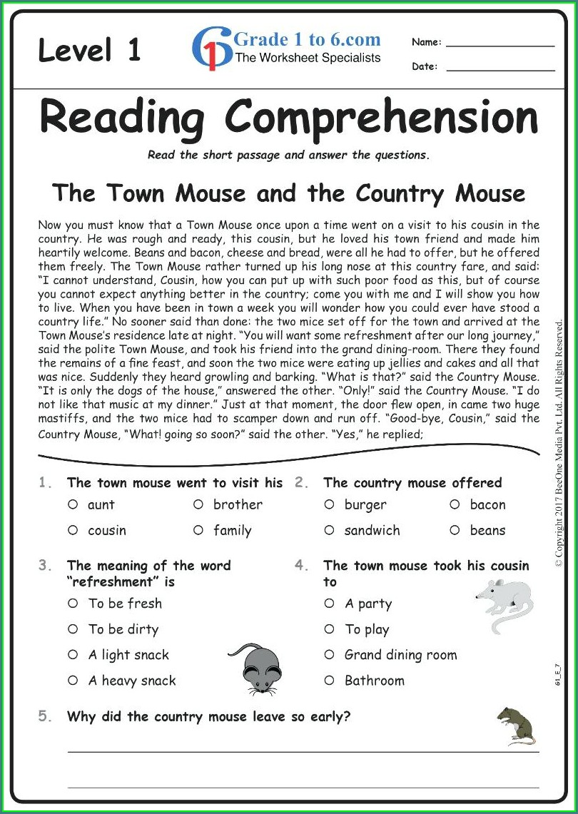 English Grammar Worksheets For Grade 2 With Answers