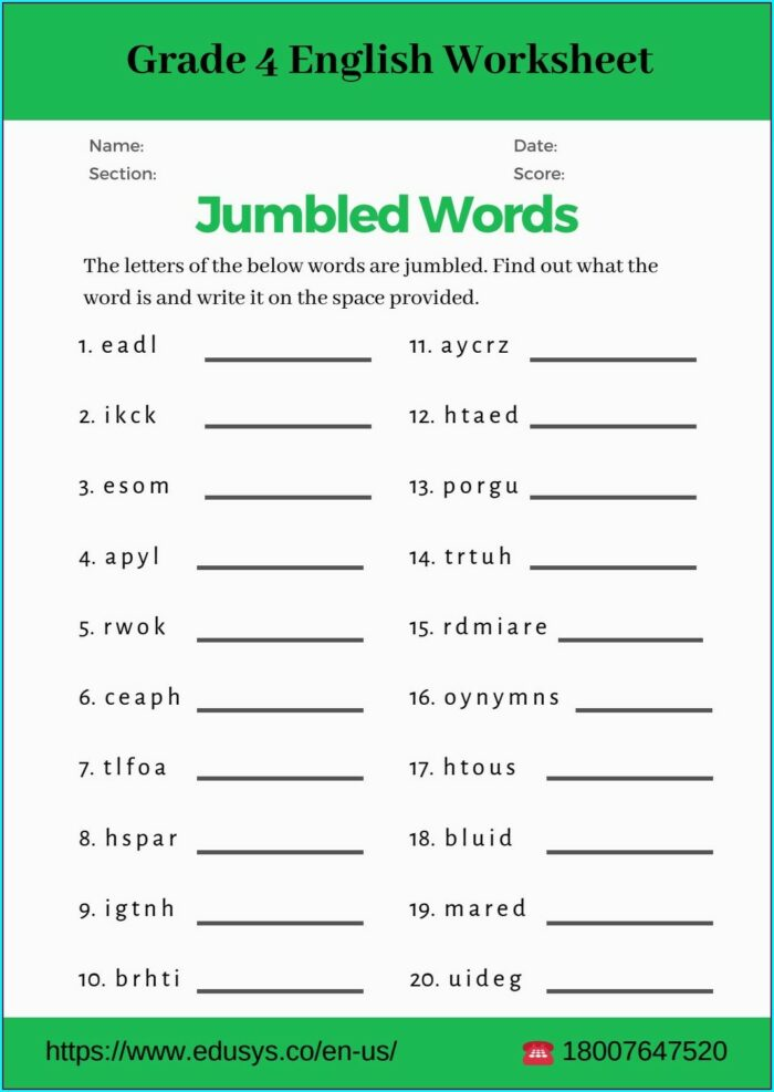English Worksheet For Grade 10 Pdf