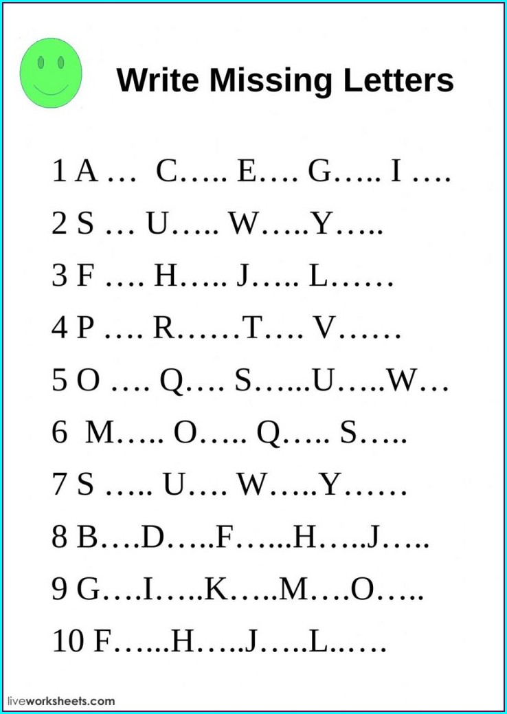 English Worksheet For Preschool Pdf