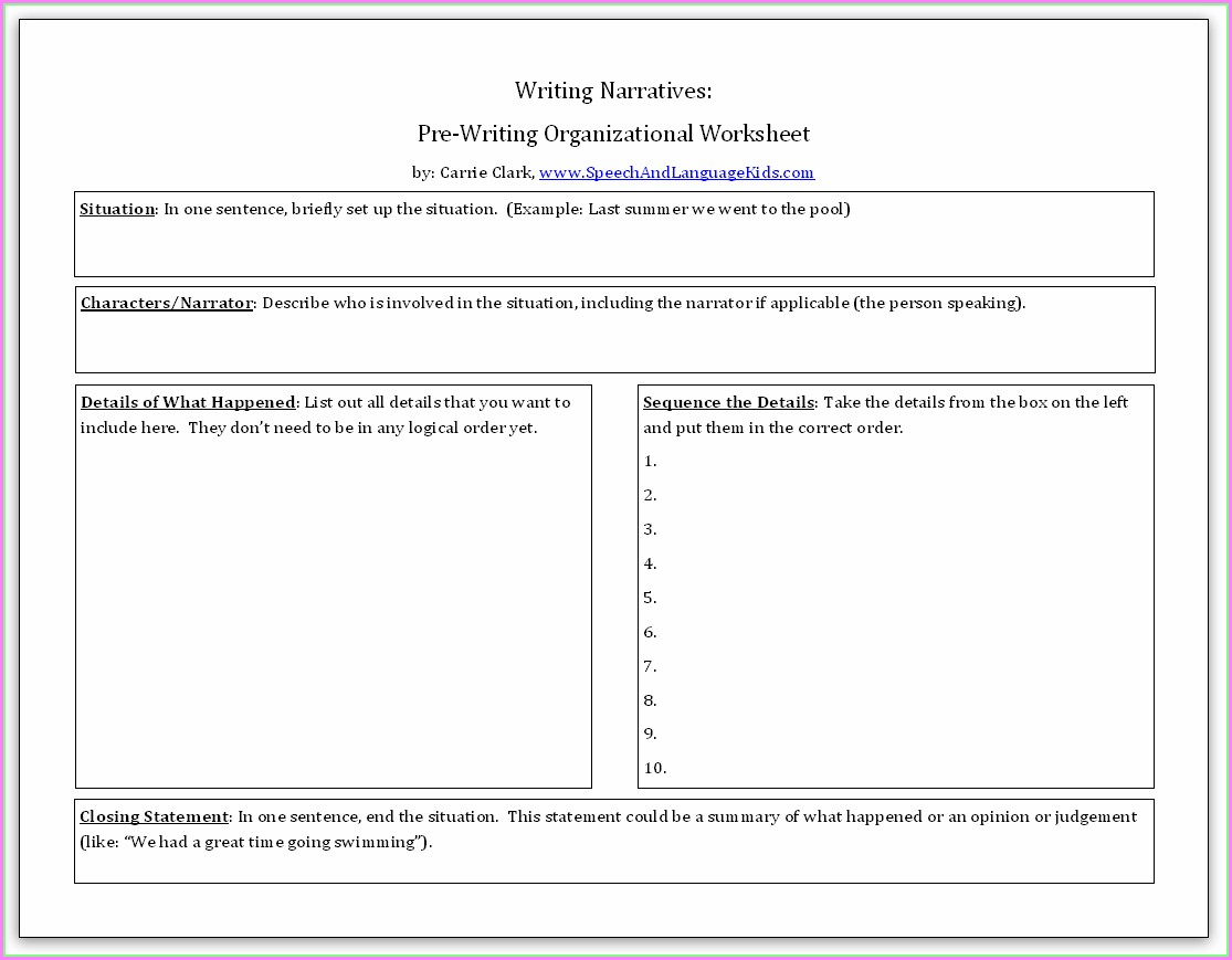 English Worksheets Summary Writing