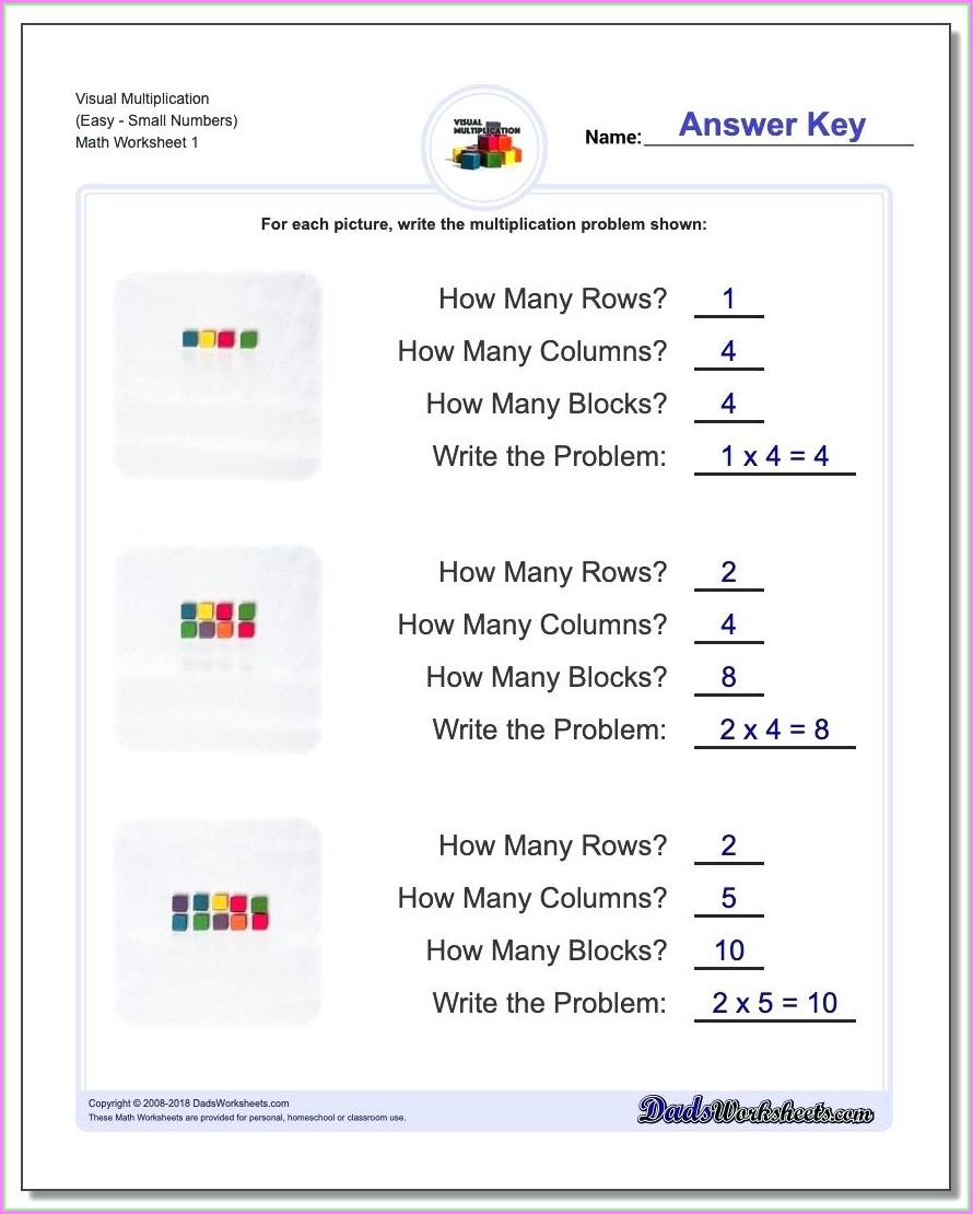 Equal Groups Multiplication Worksheet