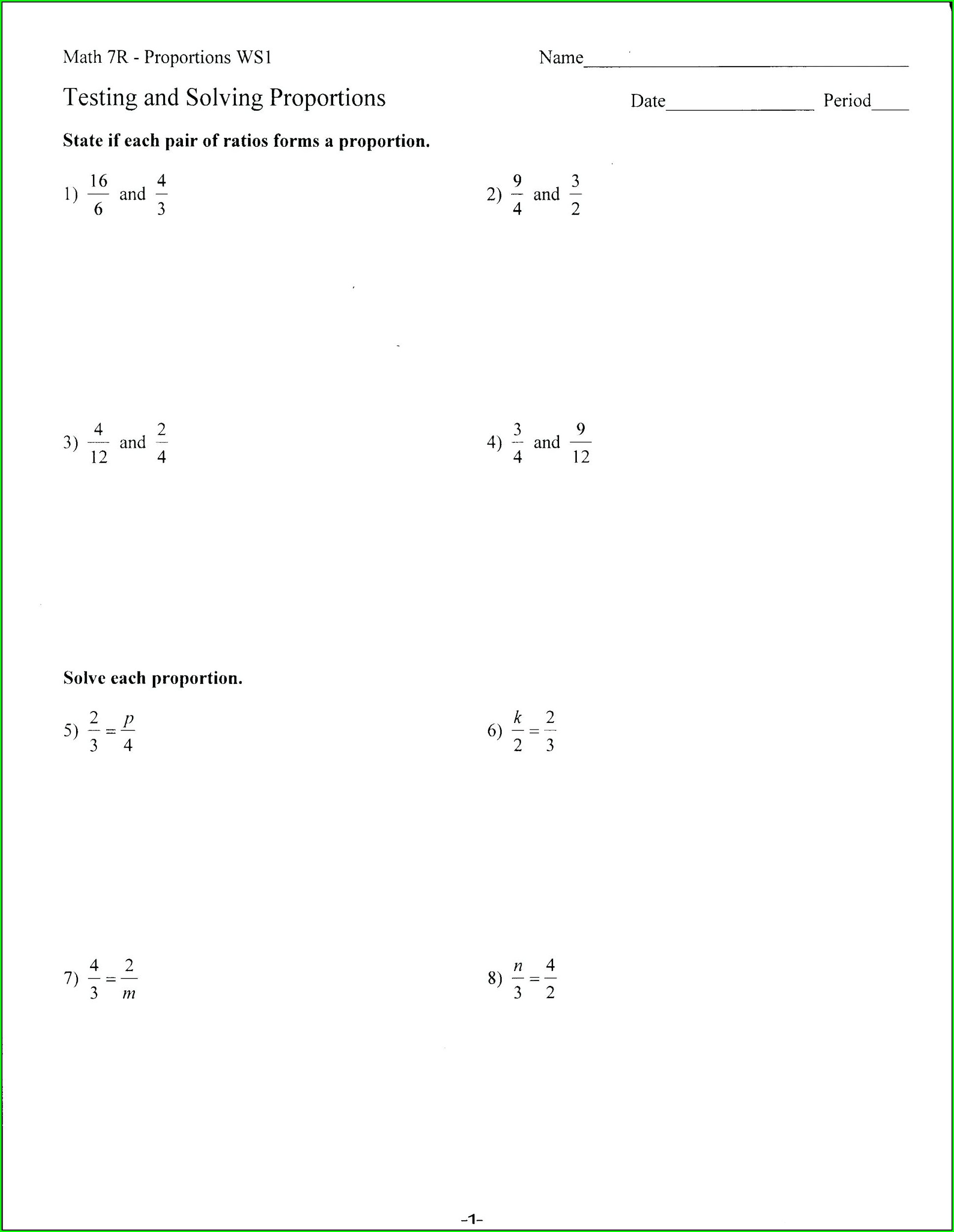 Equivalent Fractions Worksheet Math Aids