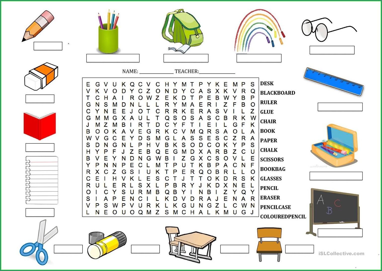 Esl Writing Worksheets Elementary