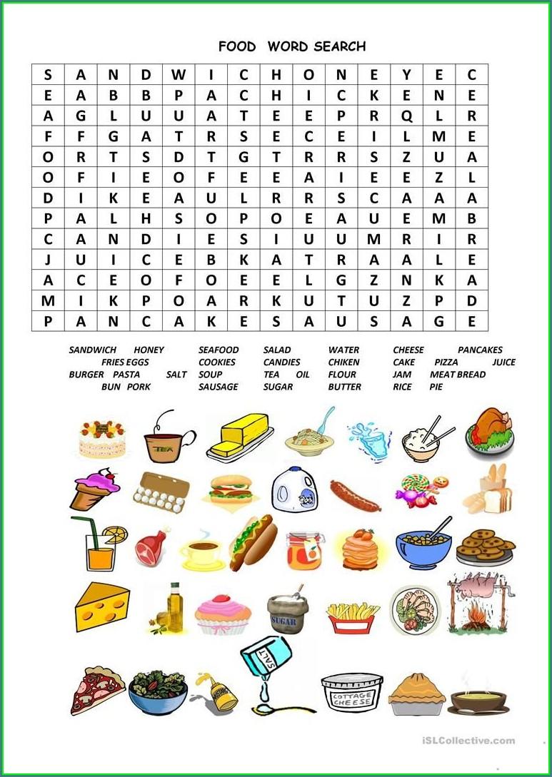 Esl Writing Worksheets Food