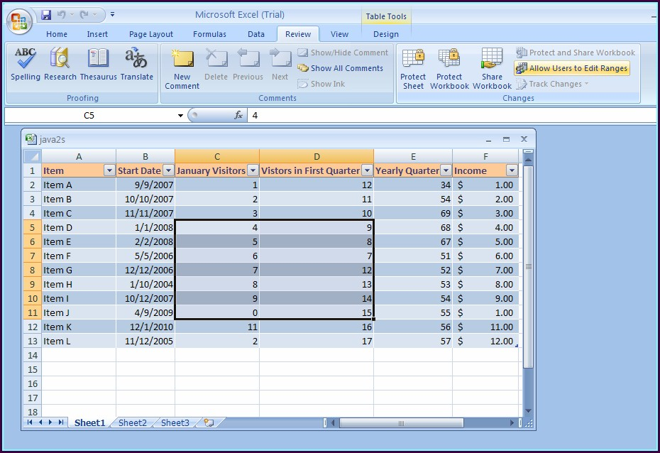 Excel 2007 Hide And Password Protect Worksheet