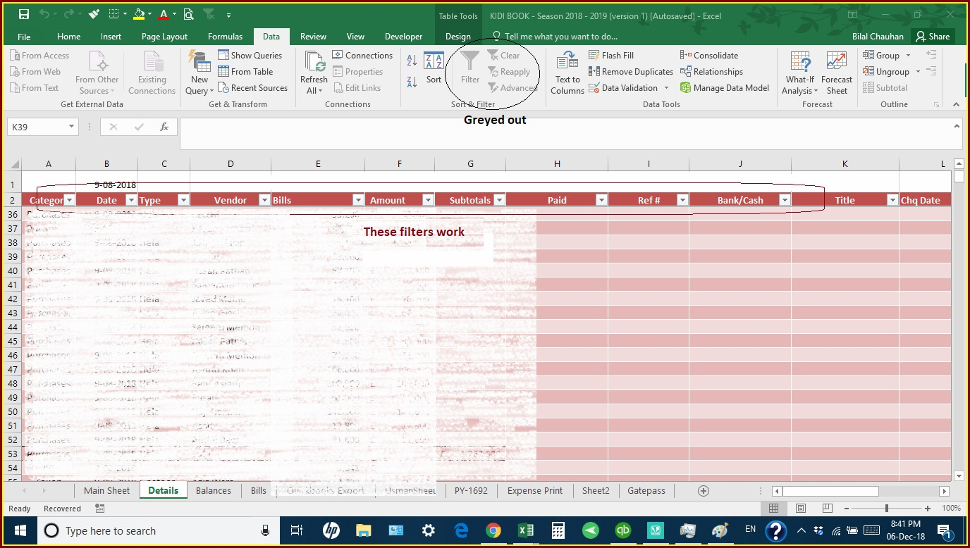 Excel 2007 Protect Sheet Greyed Out