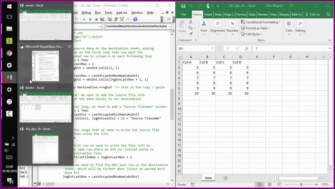 Excel Copy Multiple Worksheets Into One Workbook