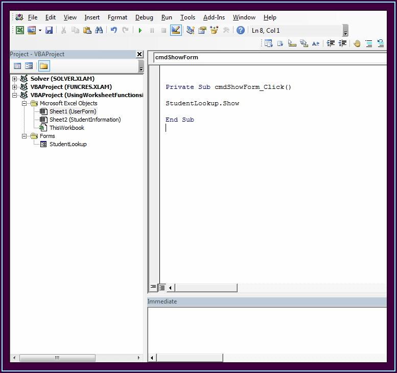 Excel Function Vba Worksheet Function