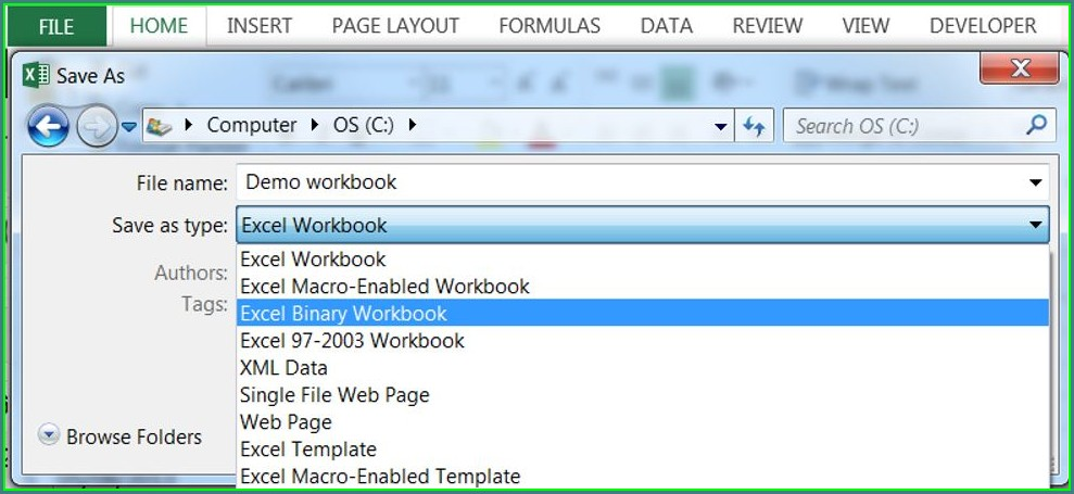Excel Macro Save Workbook As Xlsx