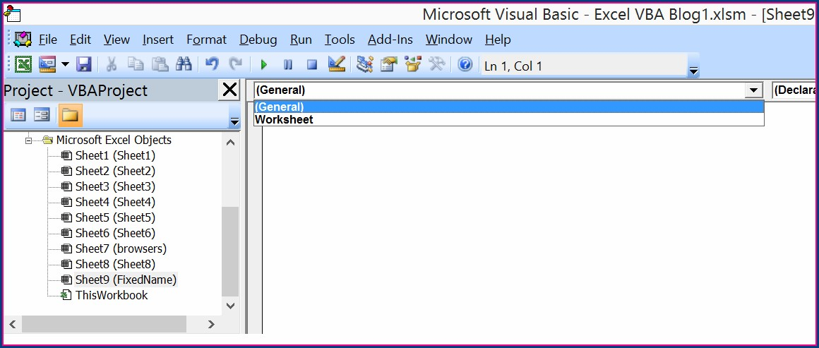 Excel Macro Select Worksheet Name
