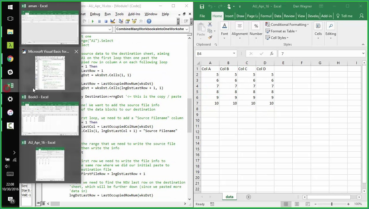 Excel Macro To Join Worksheets
