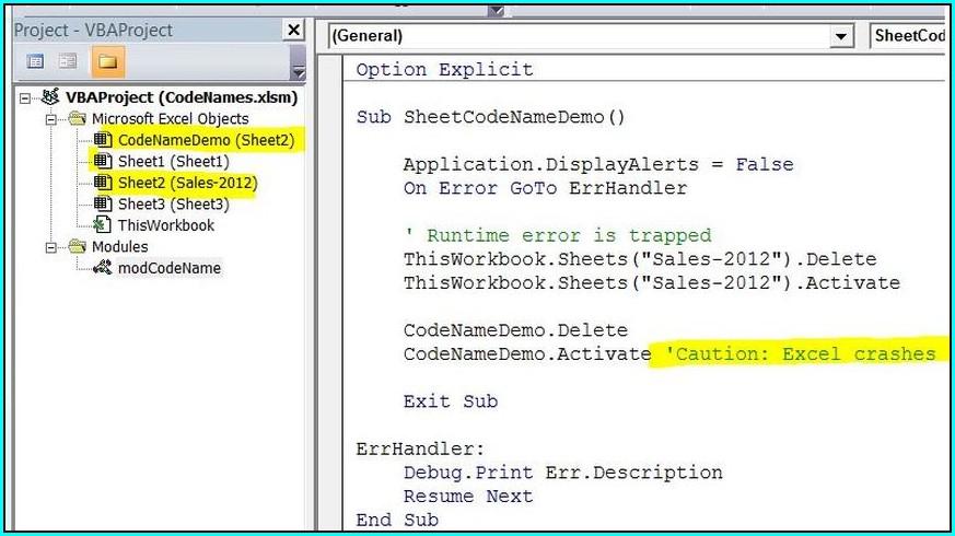 Excel Vba Define Worksheet Name