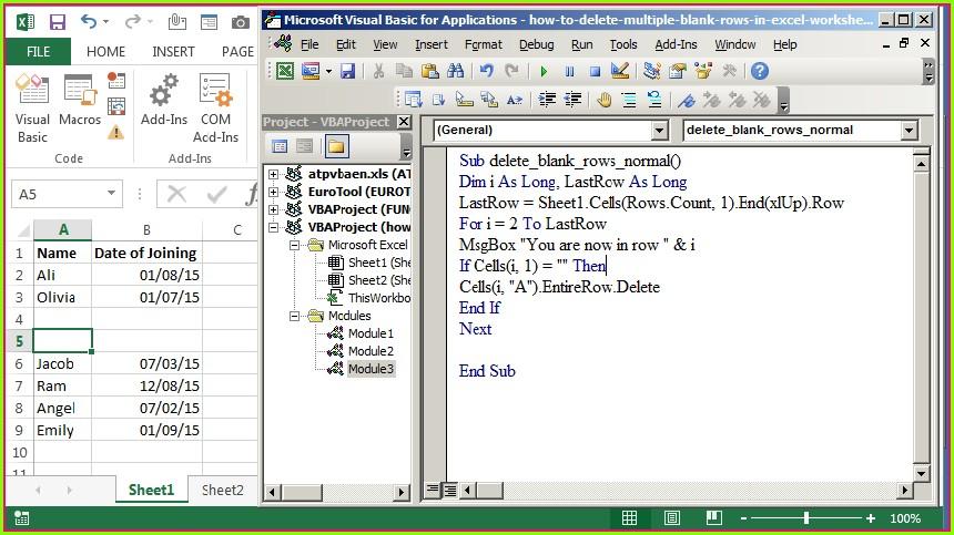 Excel Vba Delete Sheet From Workbook