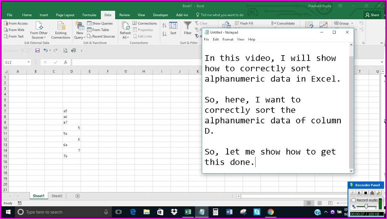 Excel Vba Sort Alphanumeric