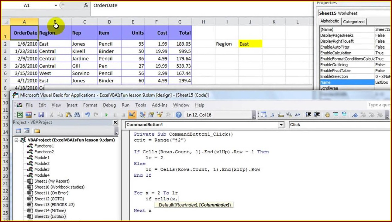 Excel Vba Sort Listbox By Column