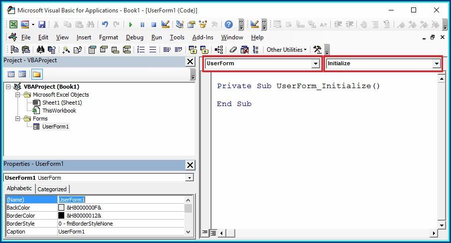 Excel Vba Worksheet Initialize Event