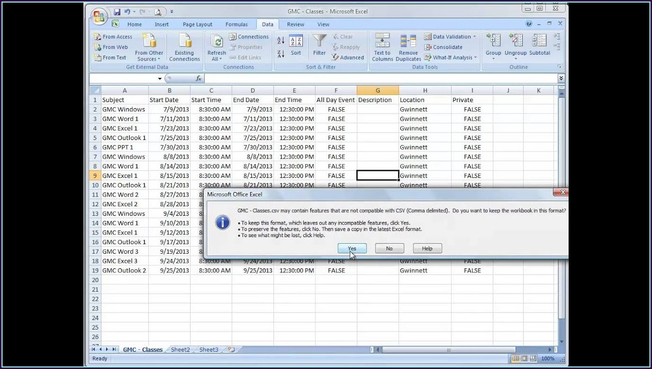 Excel Workbook Sync Event