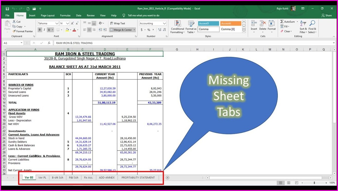 Excel Worksheet Cant See