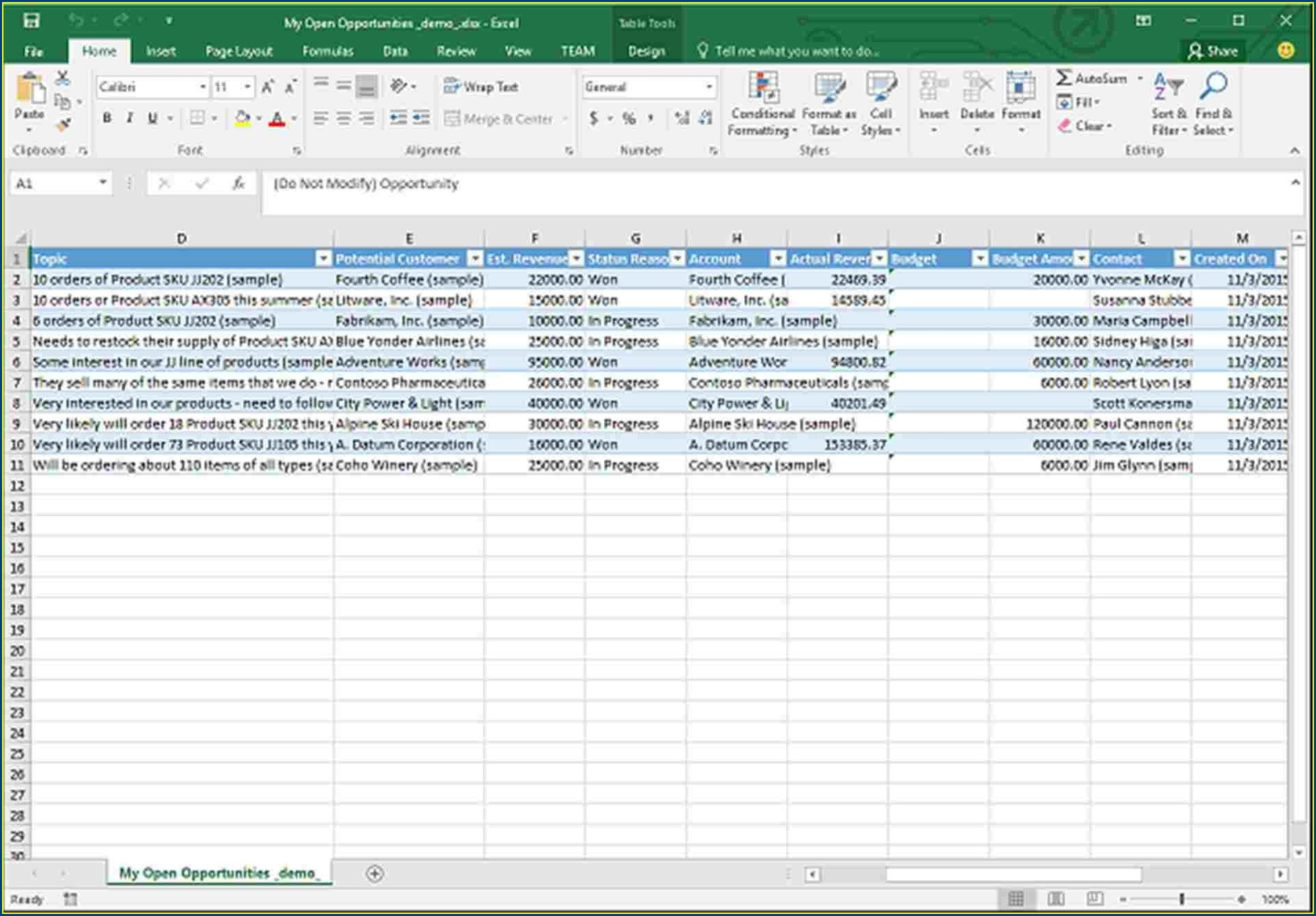 Excel Worksheet Load Event