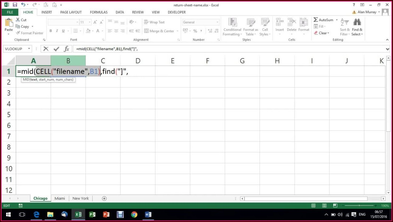 Excel Worksheet Tab Name Same As Cell