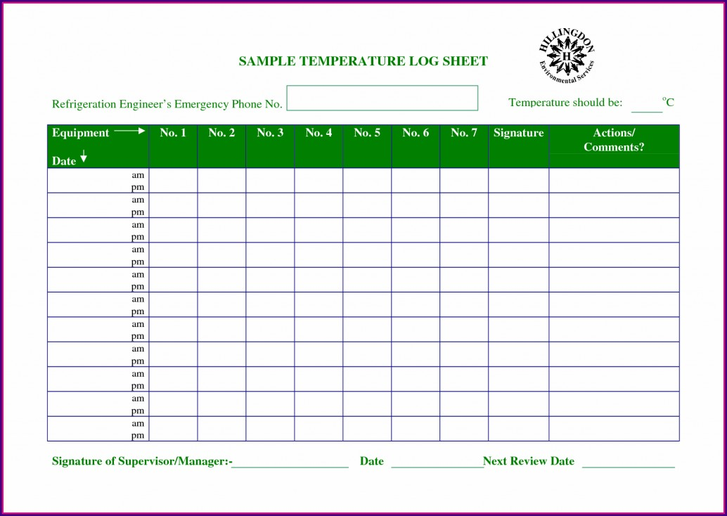 Excel Worksheet Temperature Compensation