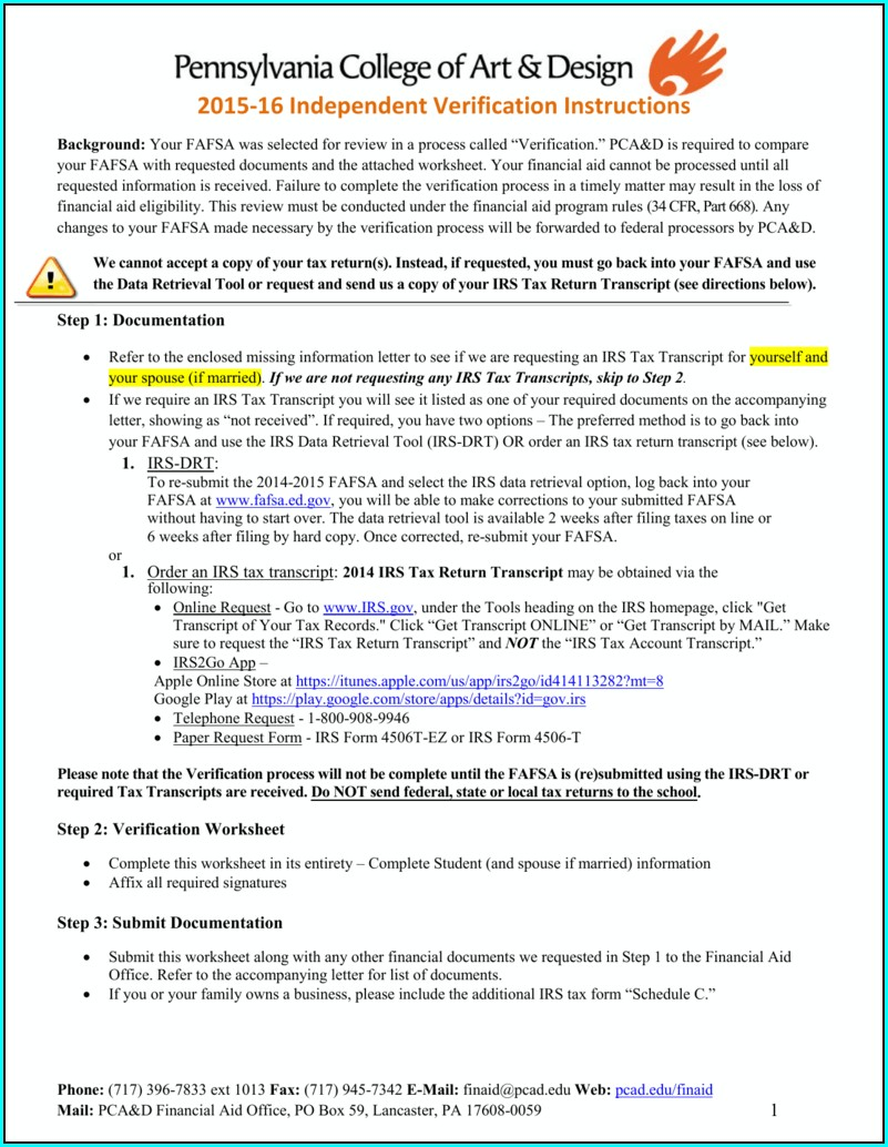 Fafsa On The Web Worksheet 2015 16