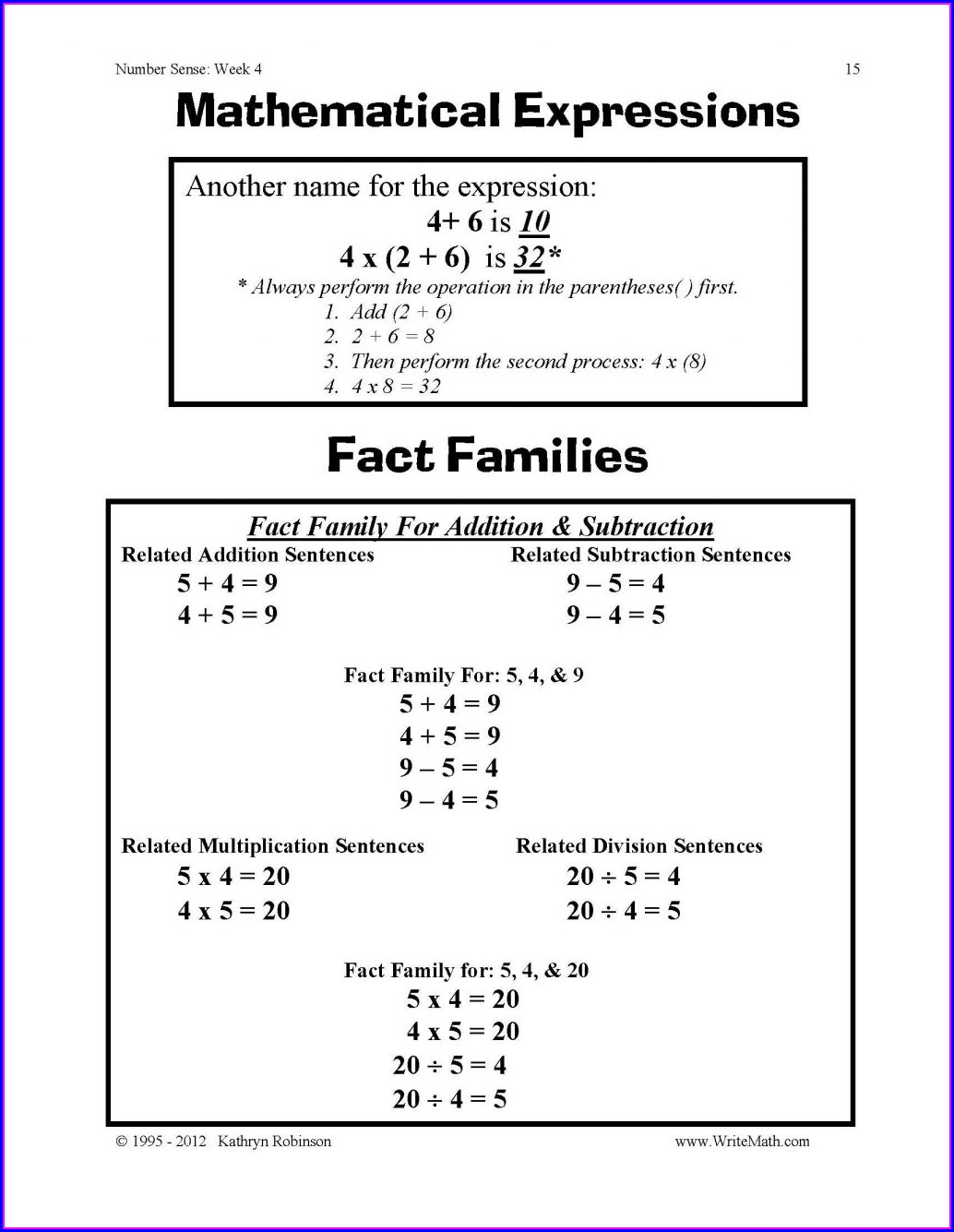 Fifth Grade 5th Grade Math Worksheets Fractions