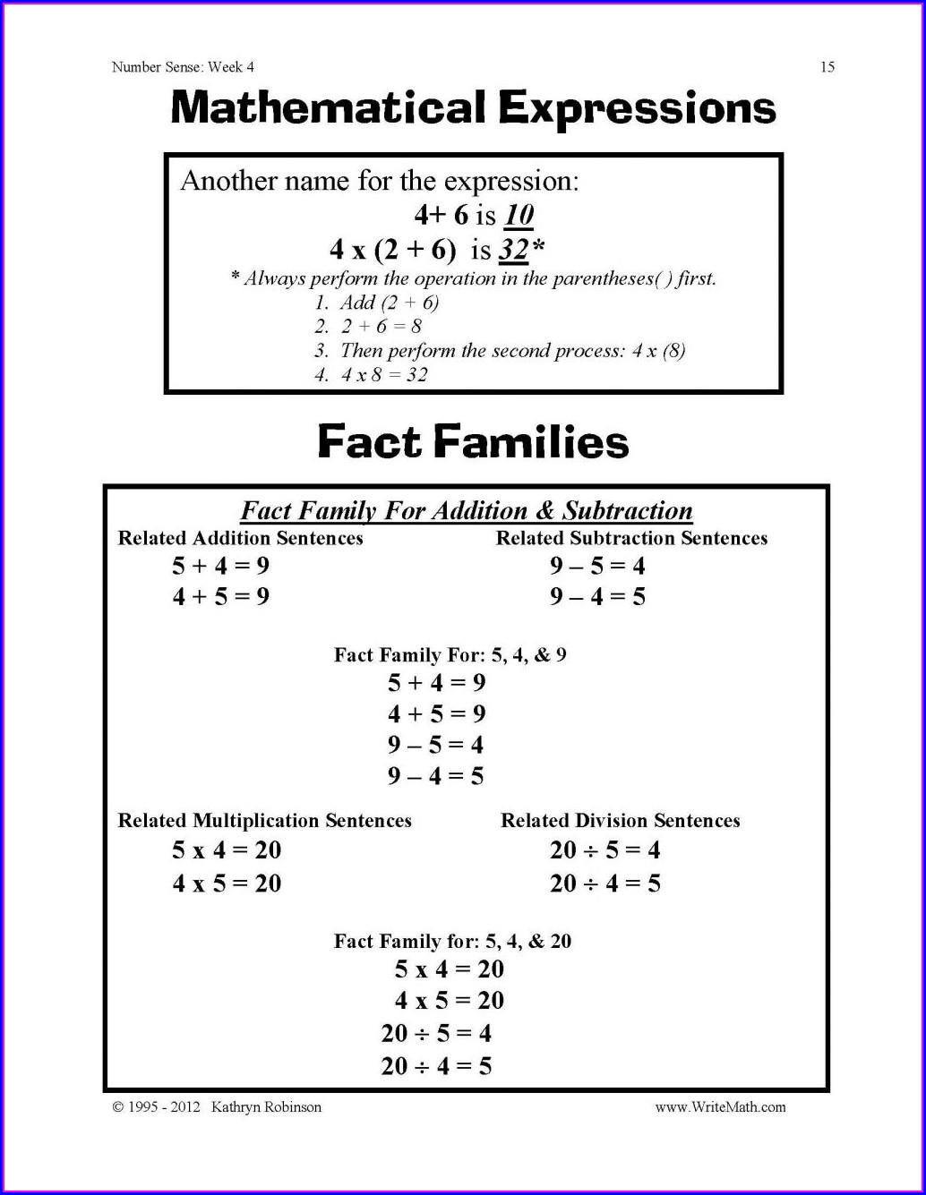 Fifth Grade 5th Grade Math Worksheets Fractions