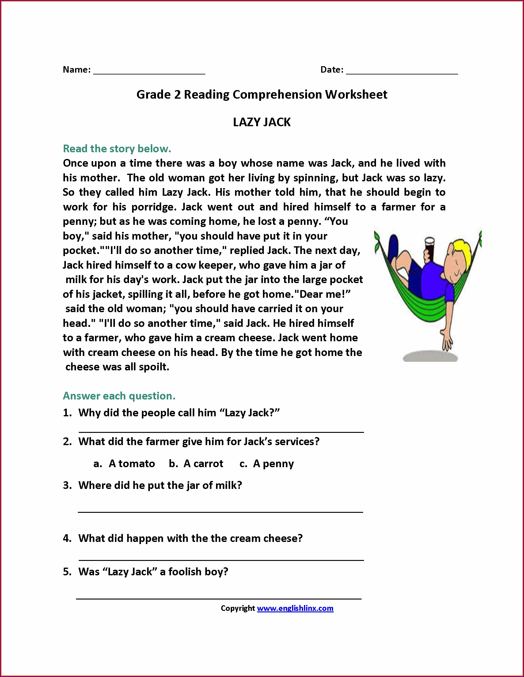 Filipino Reading Comprehension Worksheets For Grade 5