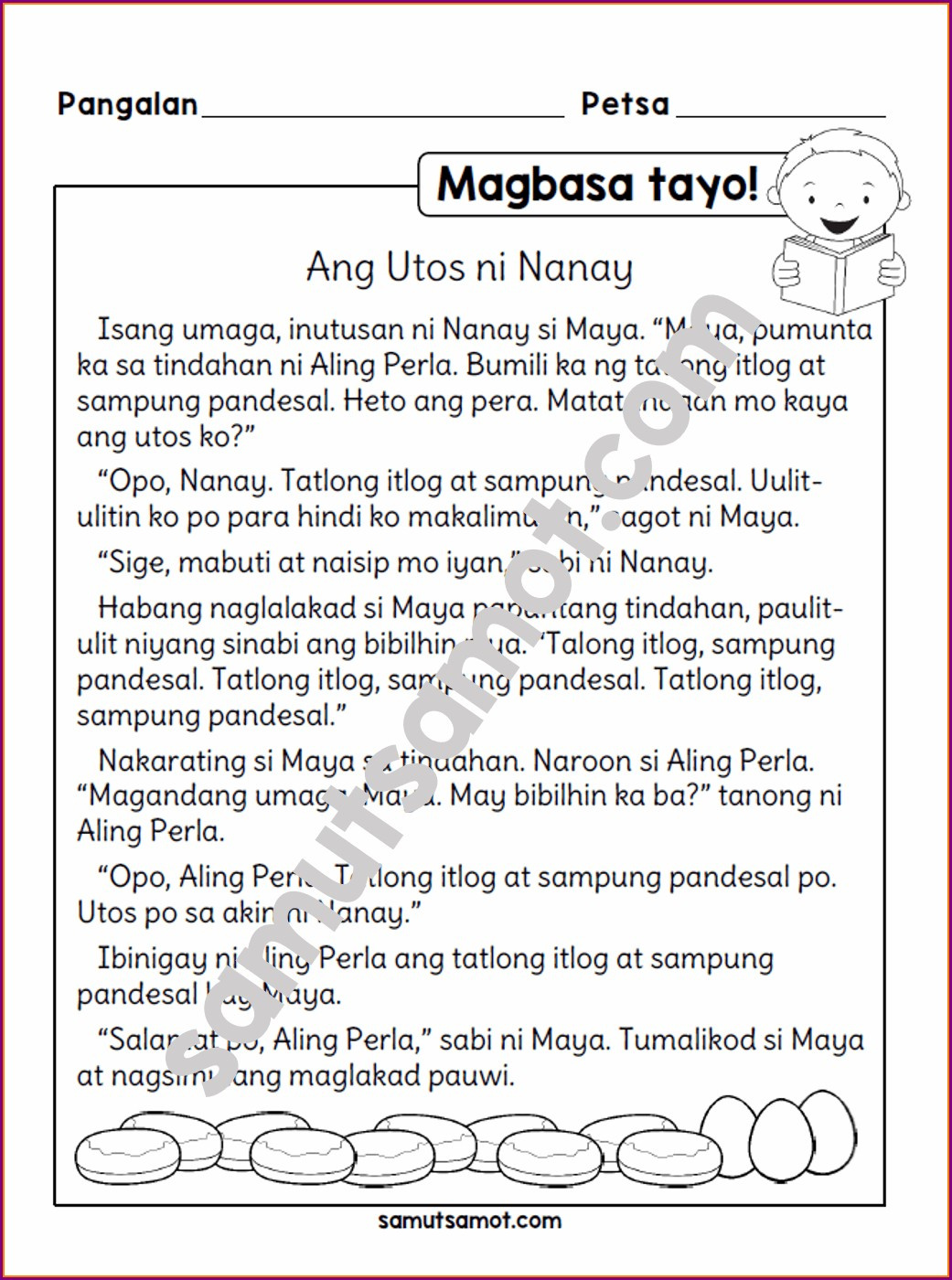 Filipino Reading Comprehension Worksheets For Grade 7