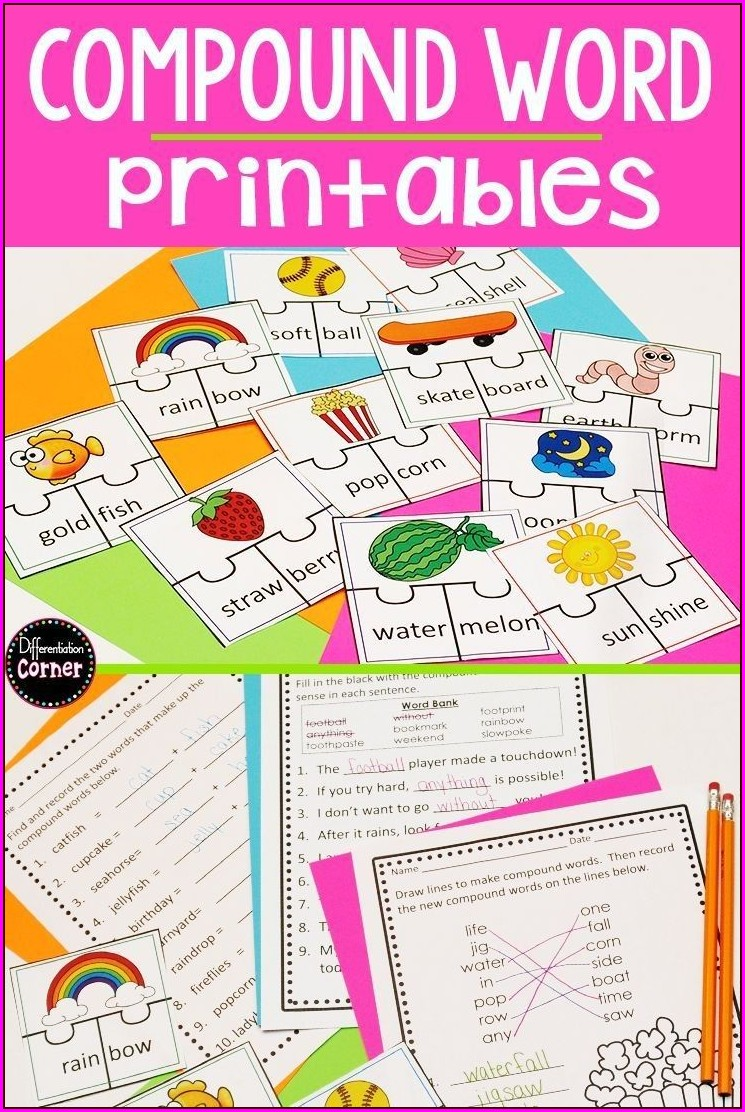 First Grade Compound Words Worksheet Grade 1