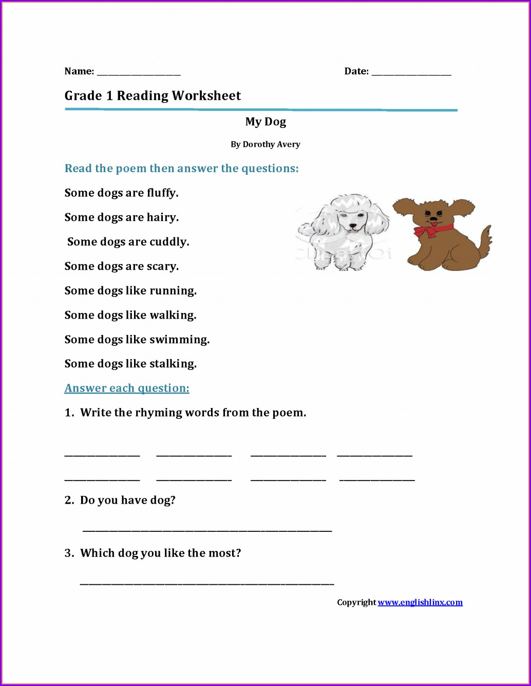 First Grade Consonant Blends Worksheets