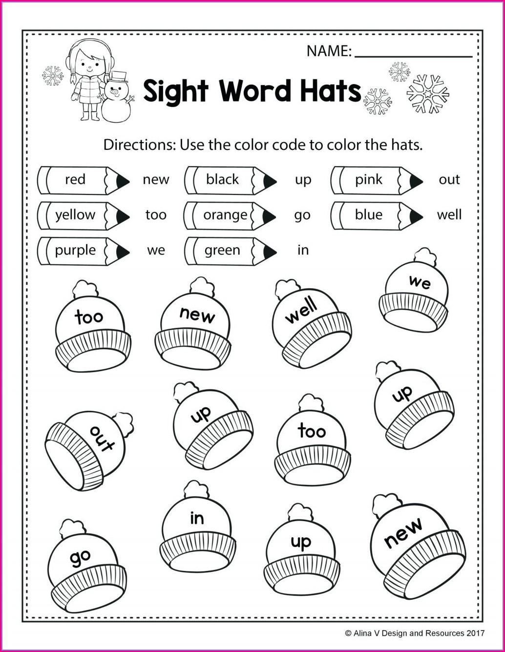 First Grade Esl Worksheets