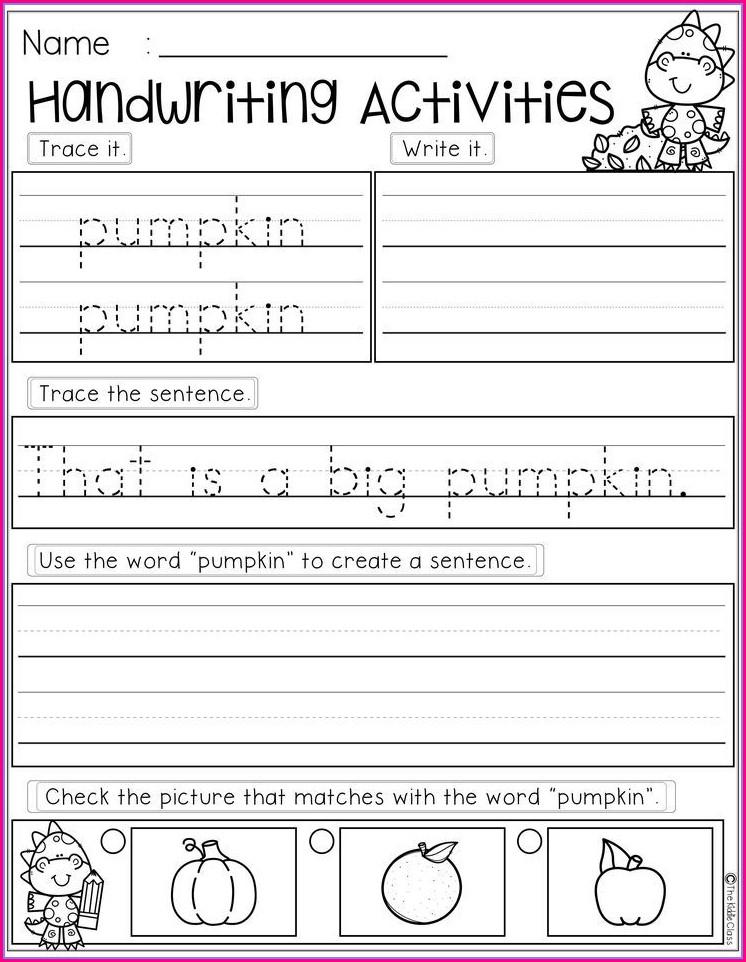 First Grade Free Handwriting Worksheets