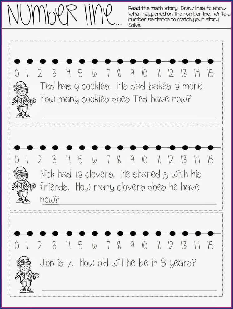 First Grade Math Journal Worksheets