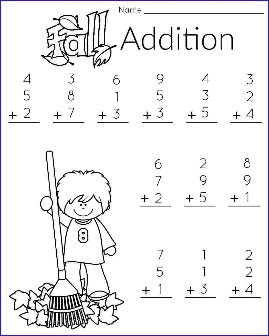 First Grade Math Printable Worksheets