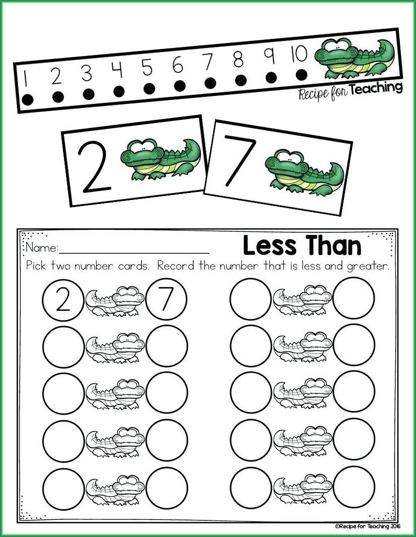 First Grade Math Worksheets Comparing Numbers