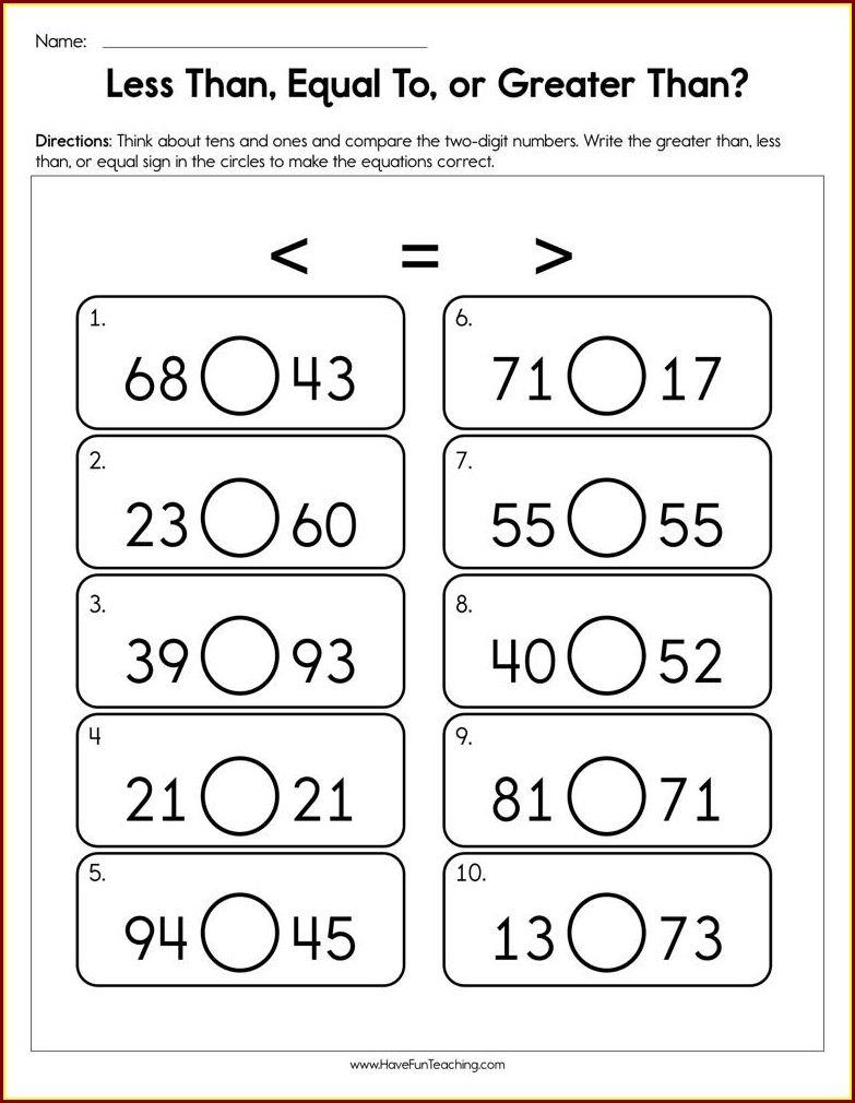 First Grade Math Worksheets Have Fun Teaching