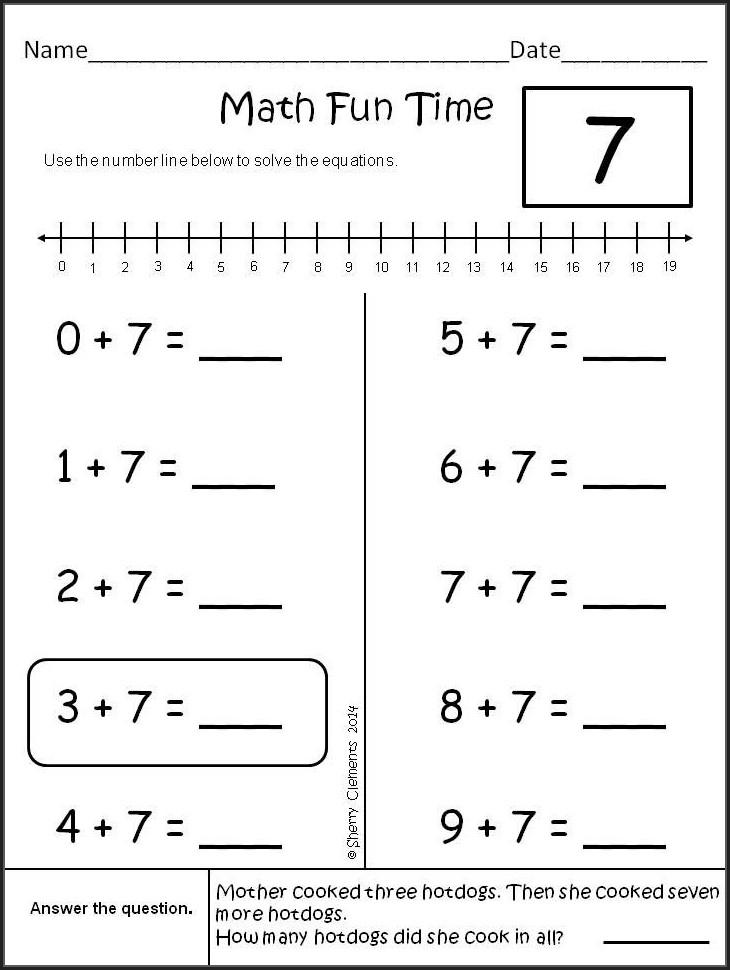First Grade Number Order Worksheets