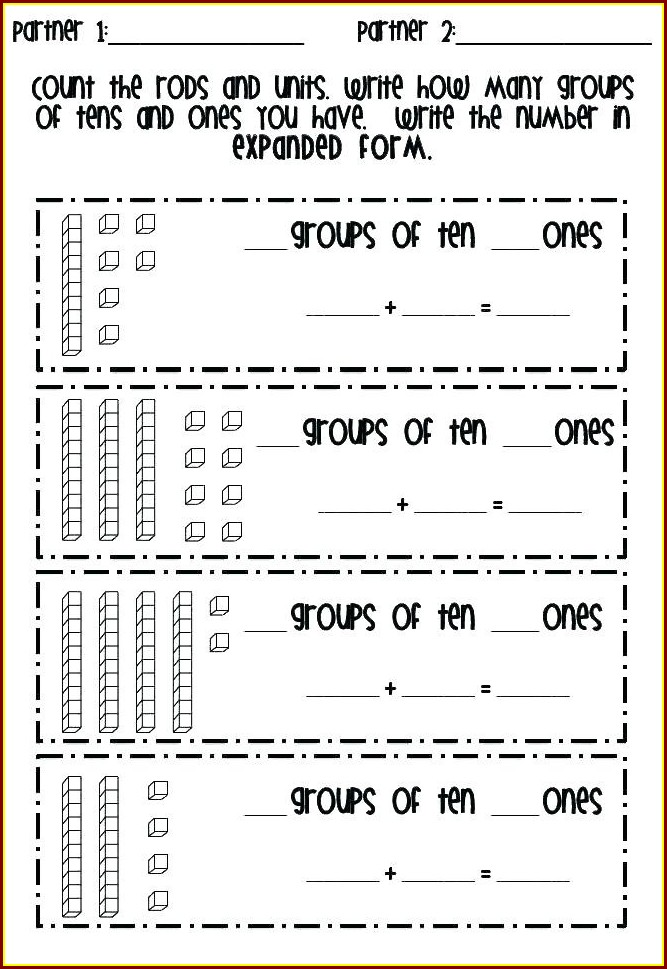 First Grade Place Value Worksheets