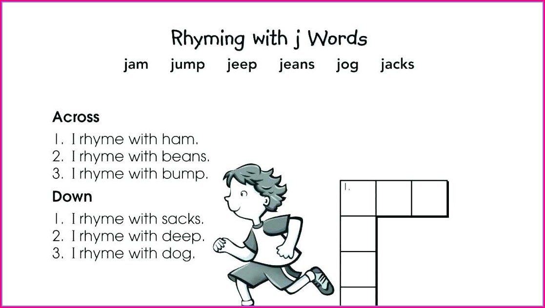 First Grade Rhyming Words Grade 1 Worksheet