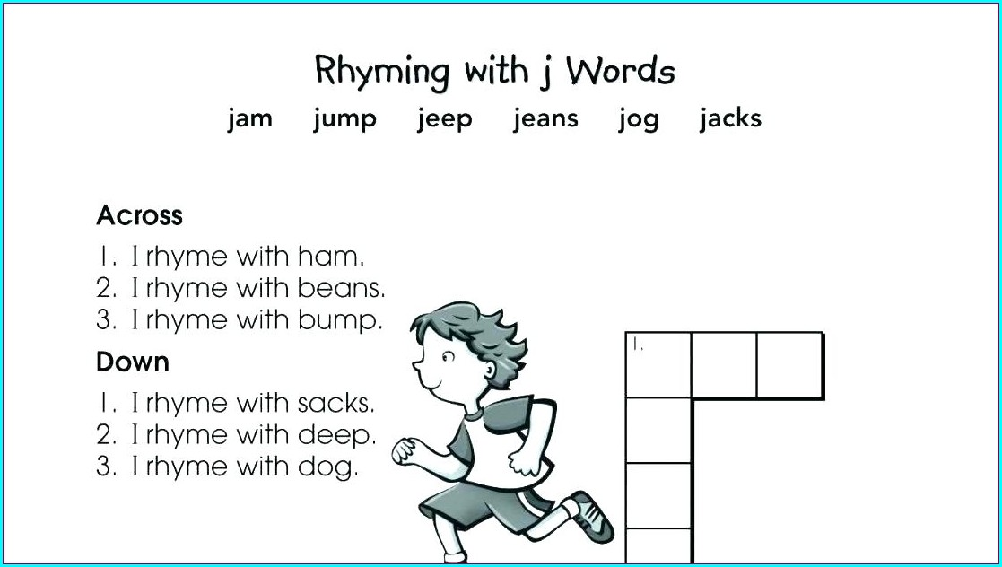 First Grade Rhyming Words Worksheet For 1st Grade
