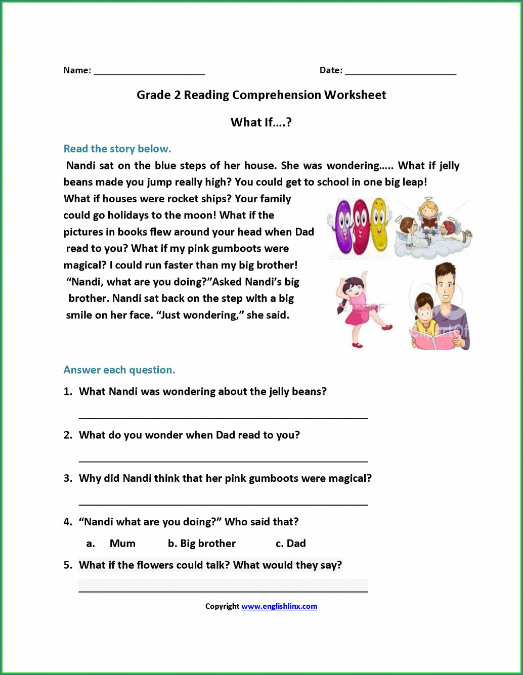 First Grade Subtraction Word Problems Worksheet