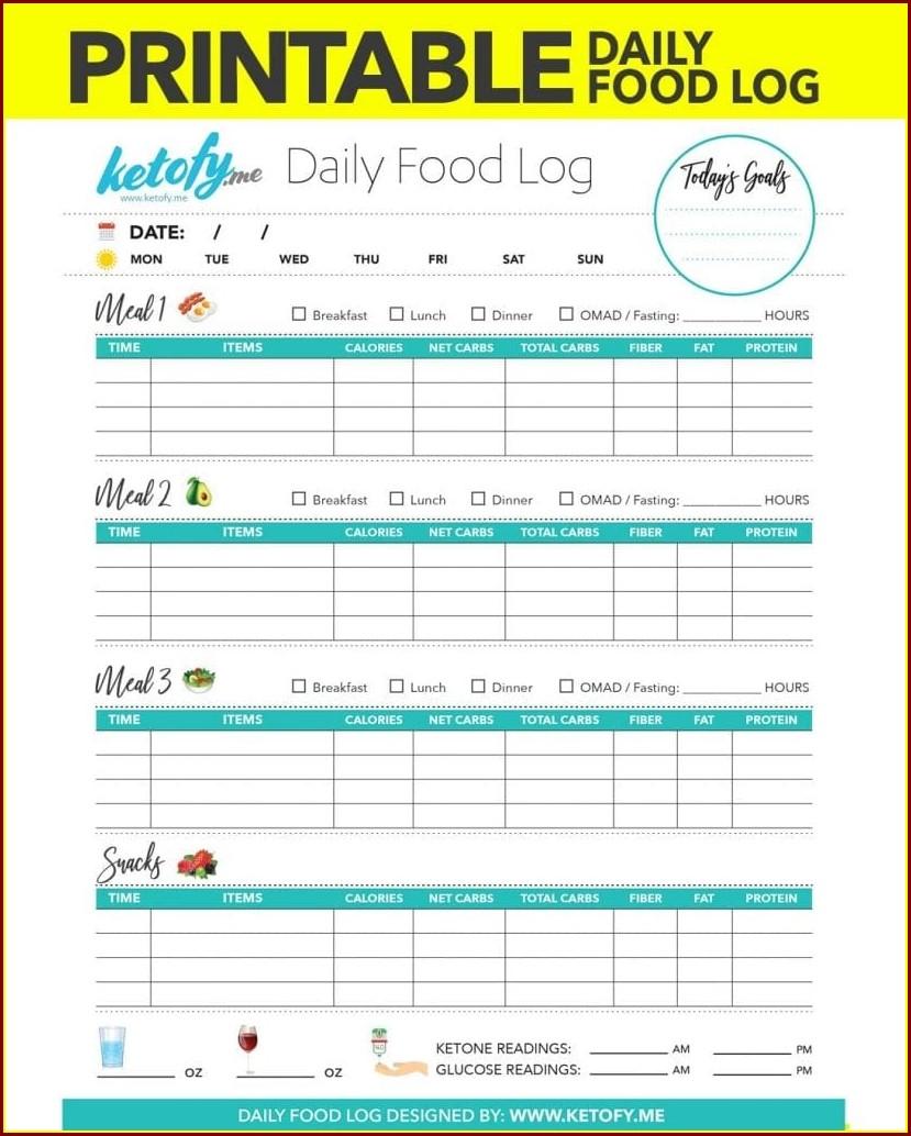 Food Journal Worksheet Real Simple