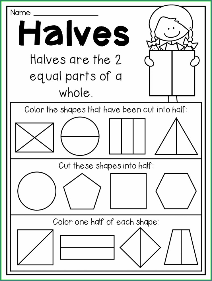 Fractions Worksheet Year One