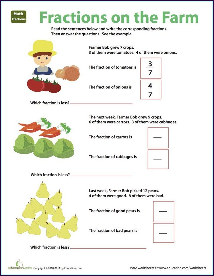 Fractions Worksheets Educationcom