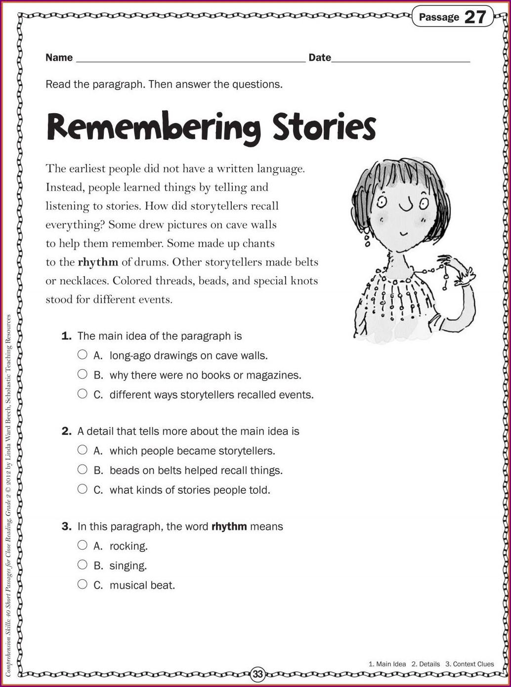 Free Comprehension Worksheets For Grade 2