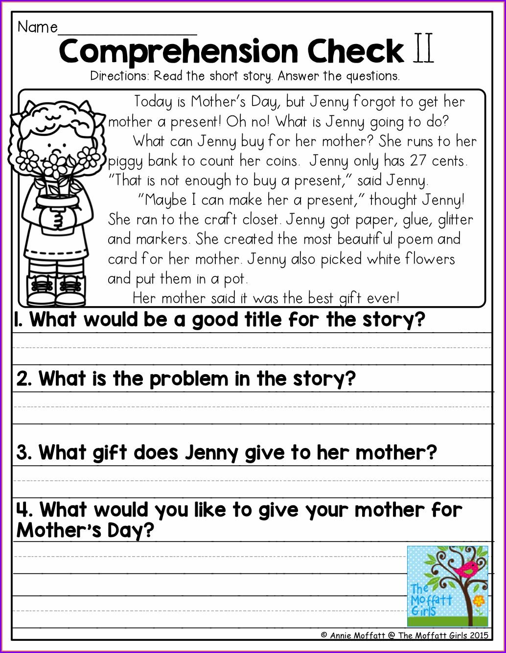 Free Comprehension Worksheets For Grade 4