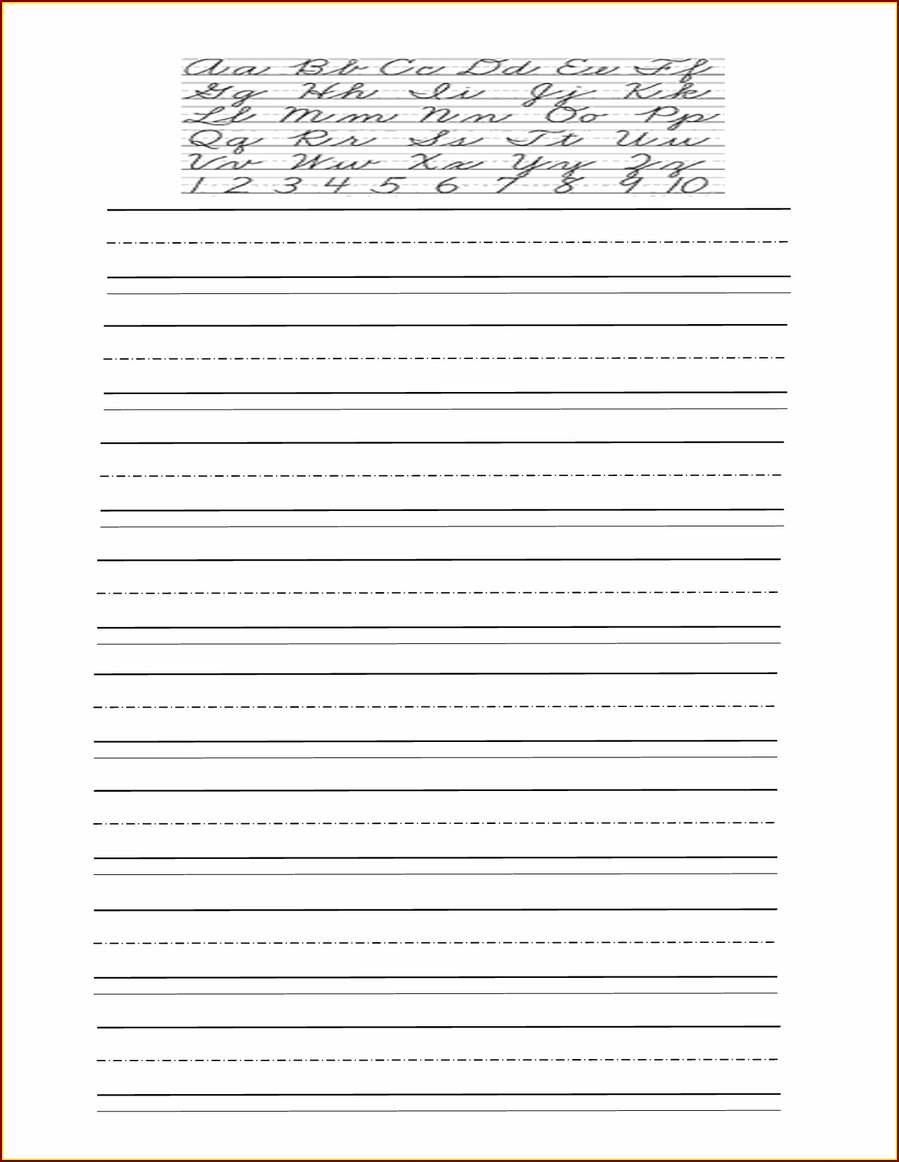 Free Handwriting Worksheet Maker Teachers